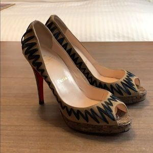 Christian Louboutin sexy open toe pumps 40